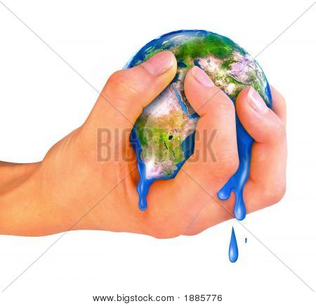 Planet Earth In The Hand