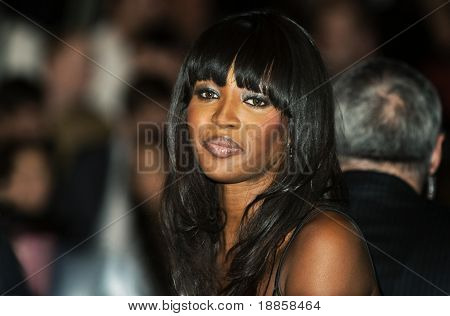 Kiev - 20 February:Model Naomi Campbell visits the competition of beauty of