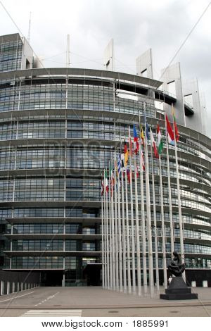 The European Parliament, Strasbourg Building, France