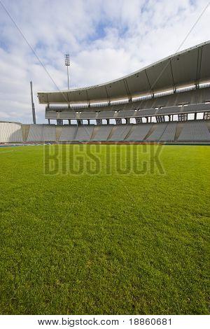 Empty Stadium And Green Grass