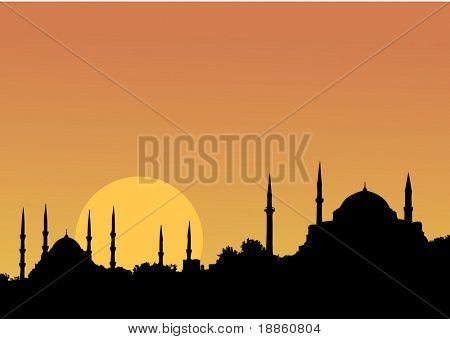 A magical IStanbul Sunset and the mosques