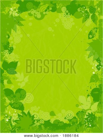 Background Of Leafs, Vector