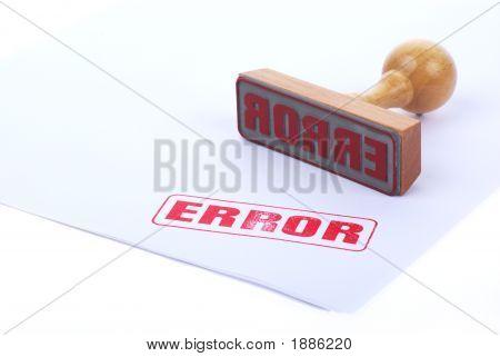 Error Rubber Ink Stamp