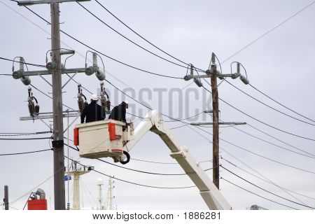 Workers Cherry Picker