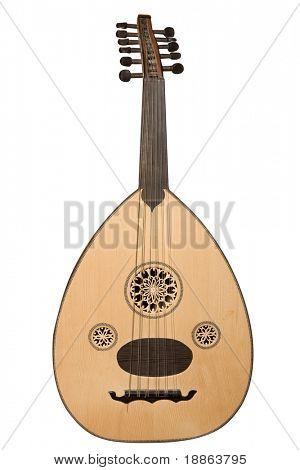 Arabische Musikinstrument, isolated on White mit Beschneidungspfad