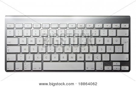 Modern minimalistic keyboard isolated on white