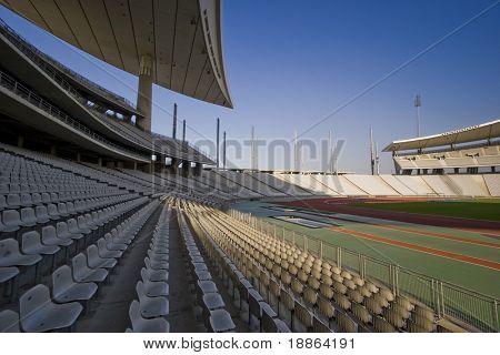 Wide Shot Of A Big Stadium