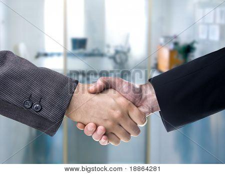 Business Handshake Hintergrund verschwommen Büro