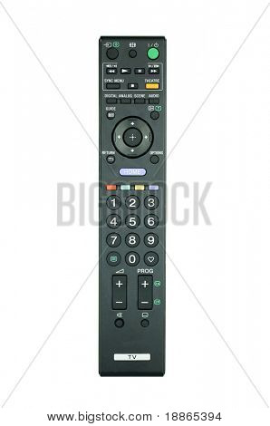 TV DVD and VCR Remote controller isolated on white
