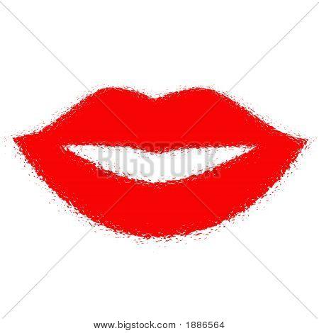 Hot Lips Print