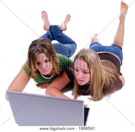 Sisters Surfing The Net