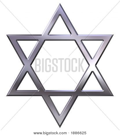 Silver Star Of David