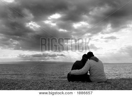 Cuddle On The Beach