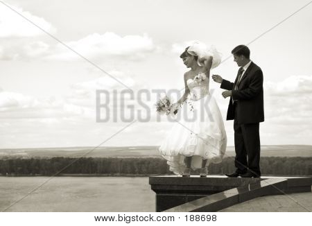 Funny Wedding Blow Up