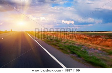 Highway and the bicyclist