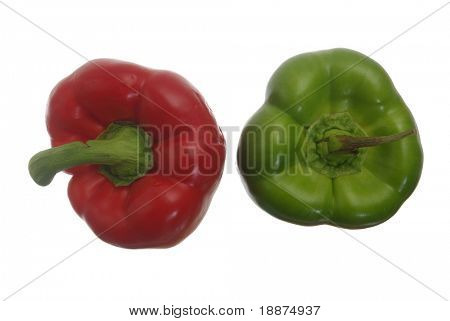 red and green bellpepper