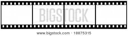 Un cuadro de película de 35mm usadas tira con trazados de recorte