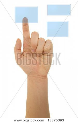 photo of pointing finger with clipping paths