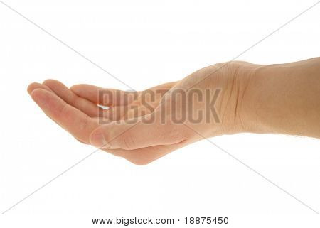 a gesturing hand photo isolated