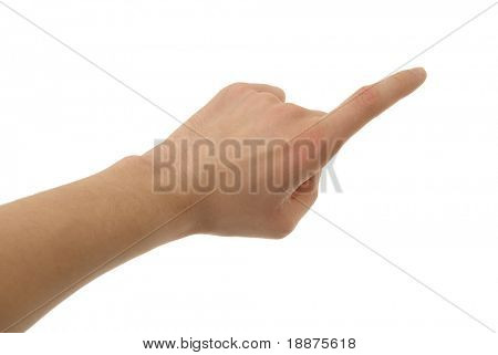 a photo of isolated hand with clipping path