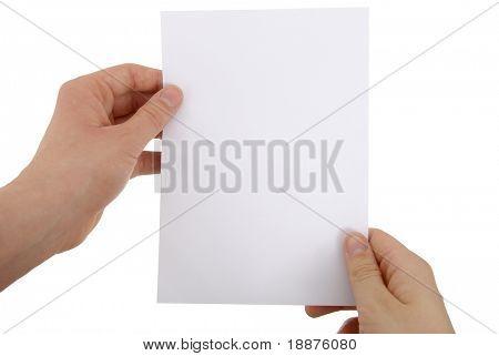 Foto de uma folha de papel
