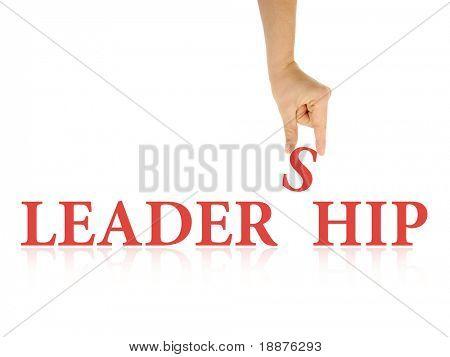 abstrakte Foto der Führung mit Beschneidungspfade