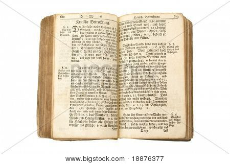 antique holy bible with clipping paths