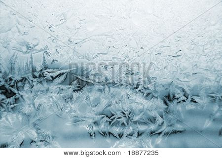 window frost pattern