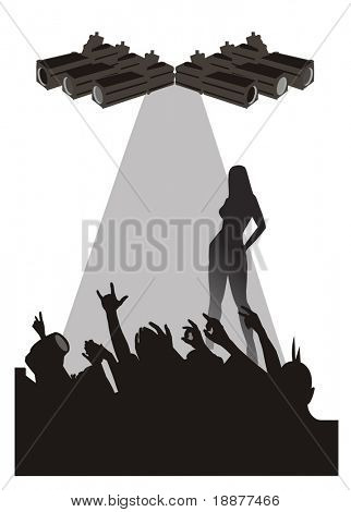 silhouette of party crowd. good use for party environment