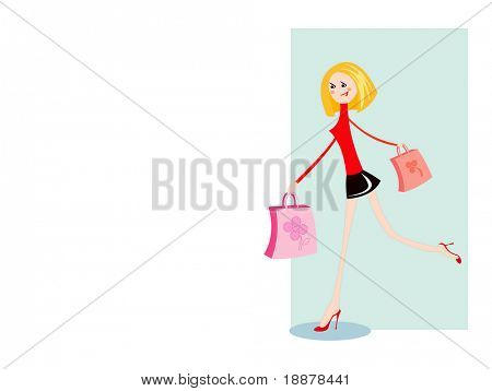 vector image for boutique retail. isolated on white