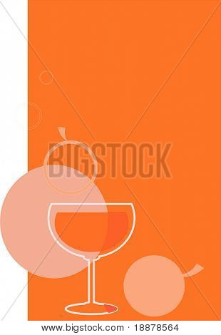 vector image of apple juice