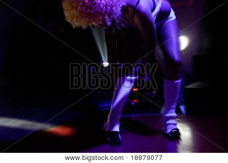 dancing girl on dancefloor