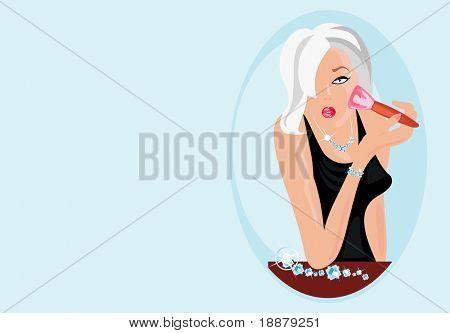 imagen de la mujer rubia sexy