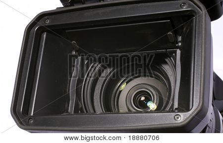part of video camera isolated on white