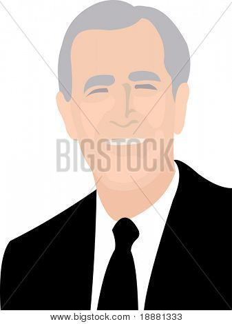 simple vector image of president isolated on white
