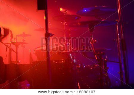 drumset on scene