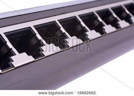 LAN switch with RJ45 ports