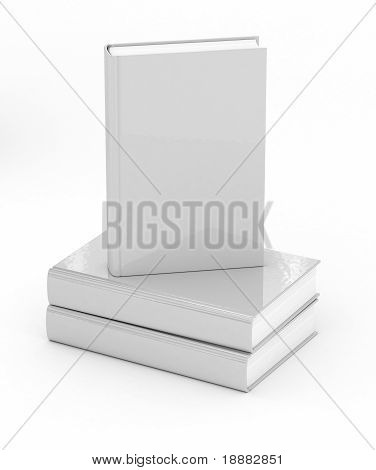 Books Over White