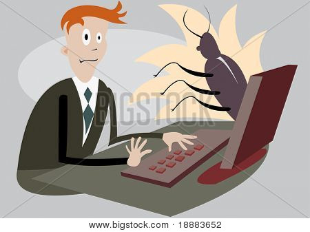 vector image of bug parody