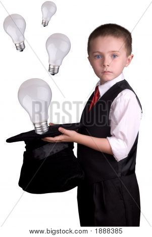 Child Magician With Ideas