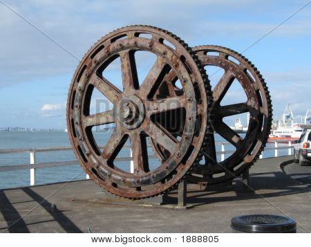 Large Gear Wheel From Old Harbour Bucket Dredge