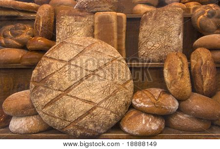Selection of ancient-style handmade bread