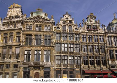 historic old town buildings of Brussels