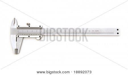 vernier caliper on a white background