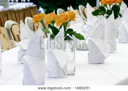 Napkins And Roses