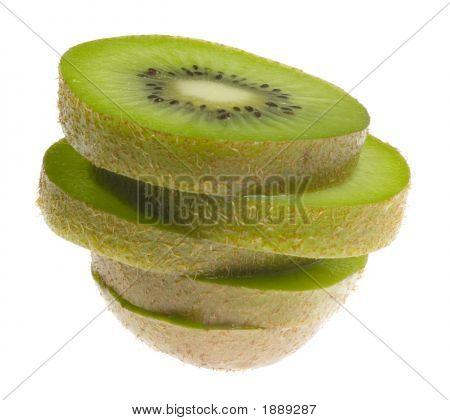 Stack Of Sliced Kiwi Fruit
