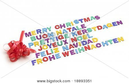 Merry Christmas typo in different languages