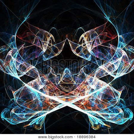 Fractal abstract of spiritual shine