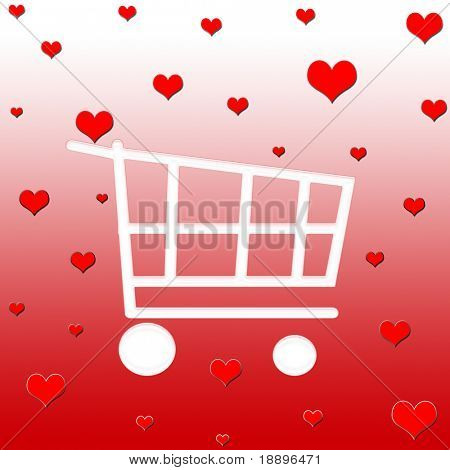 Valentine shopping cart