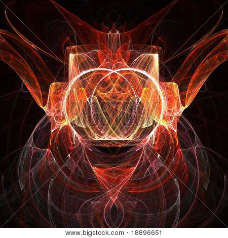 Fractal rendering of spiritual symmetrical flames